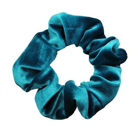 teal scrunchie