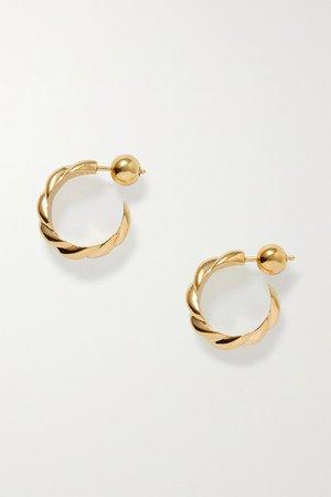 Gold + NET SUSTAIN gold vermeil hoop earrings | Sophie Buhai | NET-A-PORTER