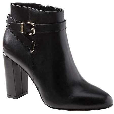 Buckle High-Heel Ankle Boot