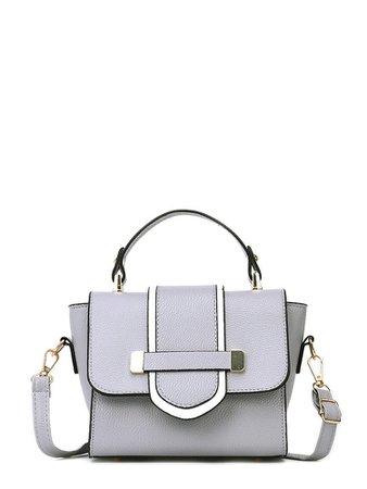Buckle Detail Flap Grab Bag