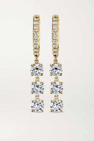 Gold 18-karat gold diamond hoop earrings   Anita Ko   NET-A-PORTER