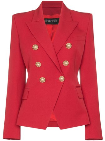 Balmain double-breasted blazer £1,625 - Shop Online - Fast Global Shipping, Price