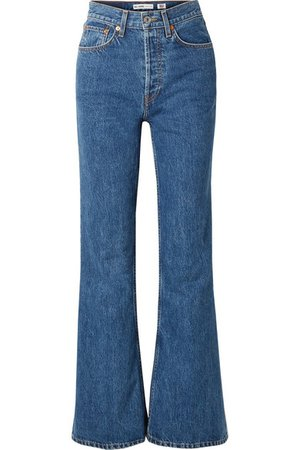 RE/DONE   High-rise wide-leg jeans   NET-A-PORTER.COM