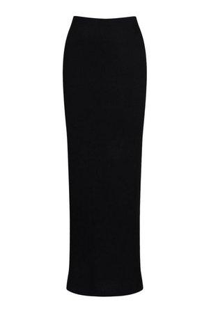 Basic Jersey Maxi Skirt   boohoo black