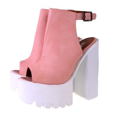 ladies-bebo-pink-leather-look-chunky-cleated-sole-ankle-strap-peep-toe-platform-sandals-shoes_2779406.jpg (395×395)