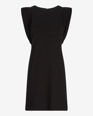 Padded Shoulder Shift Dress | Express