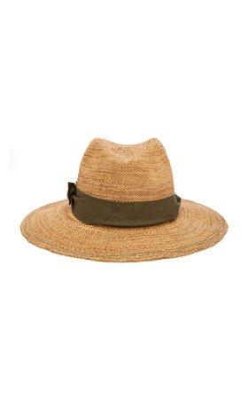 Lola Hats Rise N Shine Grosgrain-Trimmed Raffia Hat