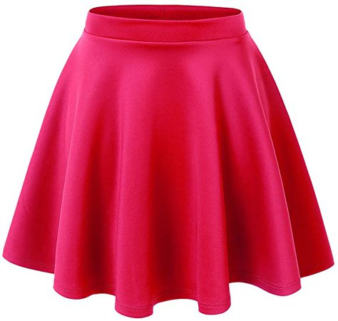 Made By Johnny Women's Basic Versatile Stretchy Flared Casual Mini Skater Skirt XS-3XL Plus Size-Made in USA at Amazon Women's Clothing store