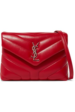 YSL Loulou quilted leather shoulder bag red