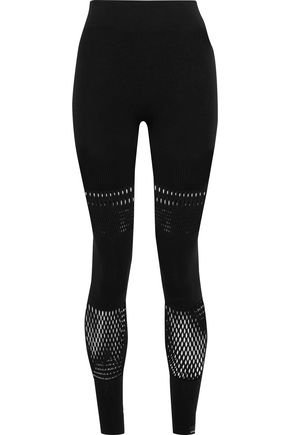 Yoga laser-cut stretch leggings | ADIDAS by STELLA McCARTNEY | Sale up to 70% off | THE OUTNET