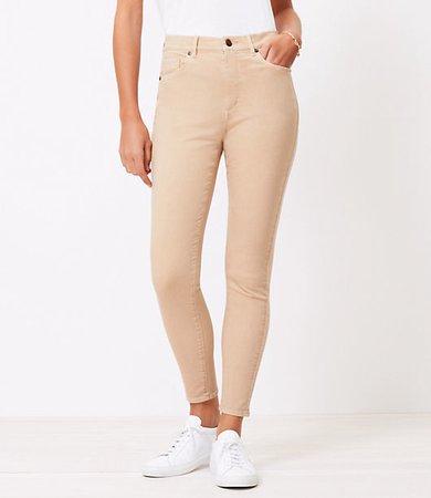 The High Waist Skinny Jean in Chai Latte