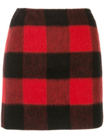 Dsquared2 Checked Fitted Skirt S72MA0738S52238 Red | Farfetch