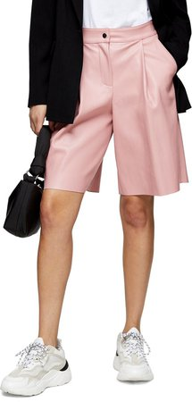 Faux Leather Culotte Shorts