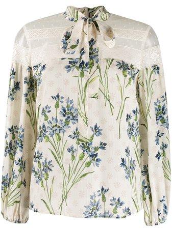 RedValentino floral print blouse - Farfetch