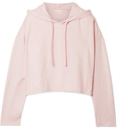 We/Me - The Zen Stretch-jersey Hooded Top - Pastel pink
