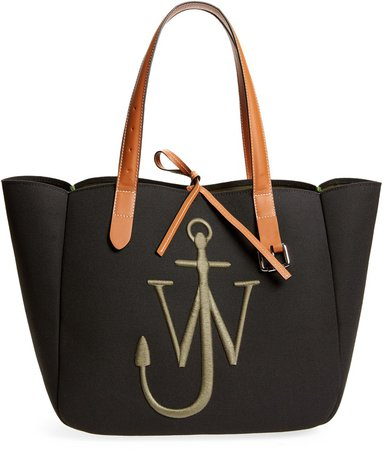 Belt Logo Embroidered Canvas Tote
