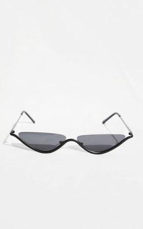 Black Cut Out Cat Eye Sunglasses | PrettyLittleThing