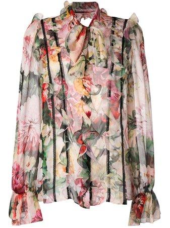 Dolce & Gabbana Floral Print Blouse - Farfetch