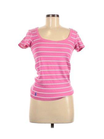 Ralph Lauren Stripes Pink Short Sleeve T-Shirt Size M - 76% off | thredUP