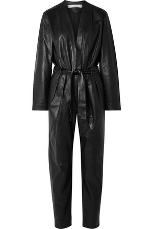IRO | Madryn belted leather jumpsuit | NET-A-PORTER.COM