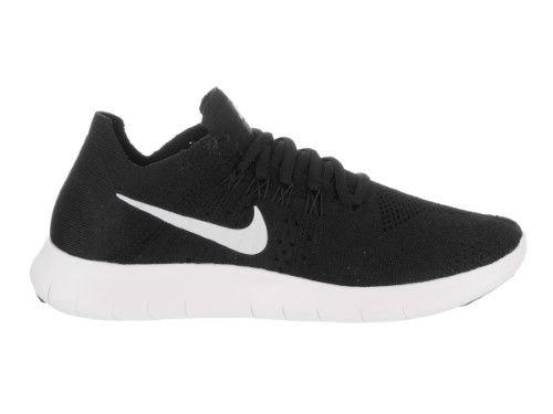 Nike Women's Free Rn Flyknit 2017 Black/White Black Running Shoe 10 Women US, Size: 10 B(M) US