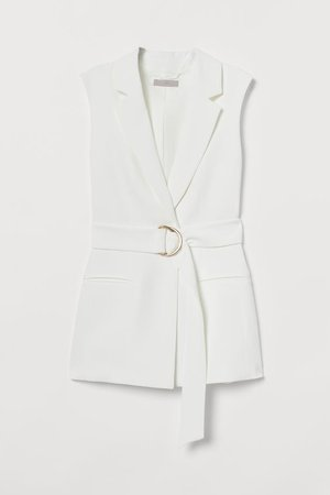 Sleeveless Jacket - White - Ladies | H&M US
