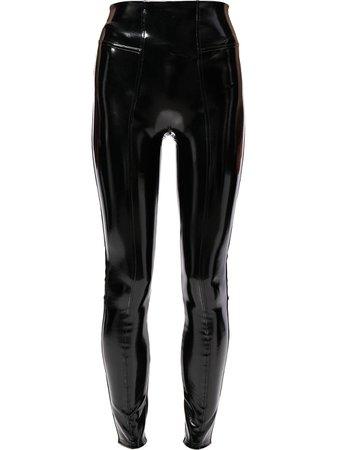 Spanx faux-leather vinyl leggings - FARFETCH