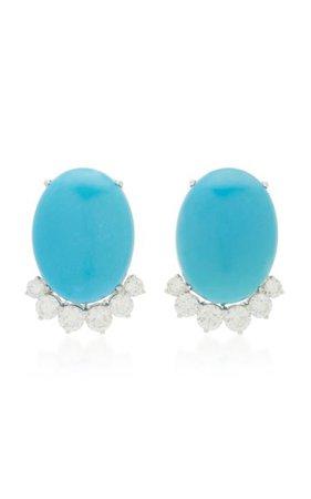 Turquoise Earrings By Lauren X Khoo | Moda Operandi