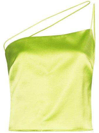 GAUGE81 Leticia one-shoulder top green 320216 - Farfetch