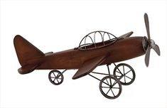 Styled Wood Metal Airplane Sculpture & Reviews | Birch Lane
