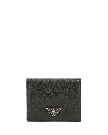 Prada Hidden Print French Wallet | Neiman Marcus
