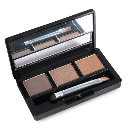 3 Colours Waterproof Eyebrow Powder Shadow Palette with Brush
