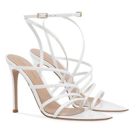 White Heeled  Sandals