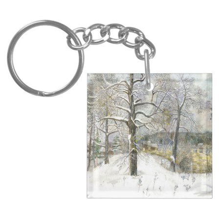 winter bridge keychain | Zazzle.com