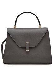 Valextra - Iside Leather Shoulder Bag - grey