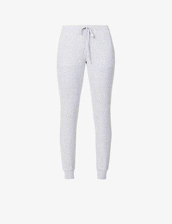 SKIN - Maizie high-rise cotton and cashmere-blend jogging bottoms   Selfridges.com