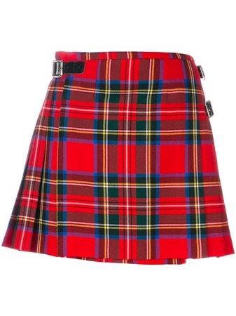 Shop red Christopher Kane Royal Stewart tartan mini kilt with Express Delivery - Farfetch