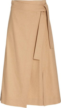 Vince Twill Wrap Skirt