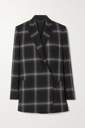 Black Oversized checked wool-twill blazer | Stella McCartney | NET-A-PORTER