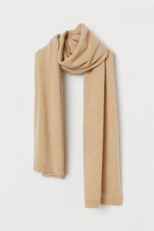 Cashmere scarf - Beige - Ladies | H&M GB