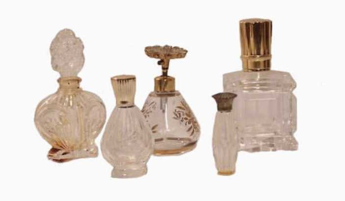 clear perfume bottles
