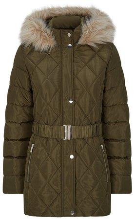 Khaki Short Padded Coat