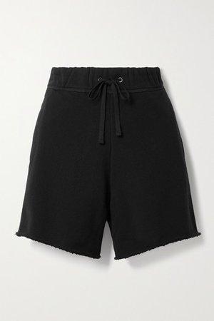 Cotton-jersey Shorts - Black