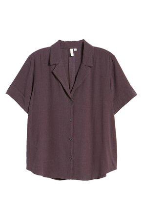 Treasure & Bond Textured Camp Shirt   Nordstrom