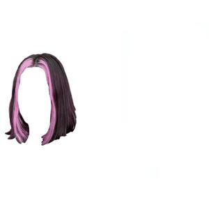 short brown hair png pink bangs