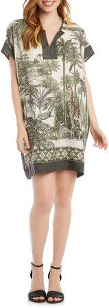 Safari Print Shift Dress