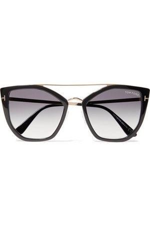 TOM FORD | Dahlia cat-eye acetate and gold-tone sunglasses | NET-A-PORTER.COM