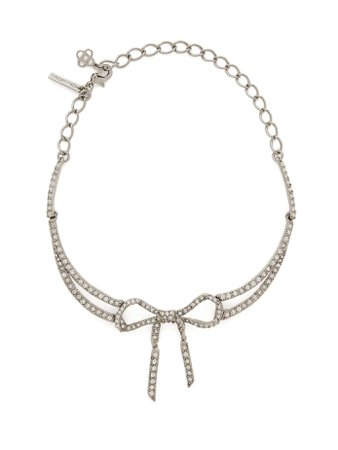 Bow crystal-embellished necklace | Oscar De La Renta | MATCHESFASHION.COM