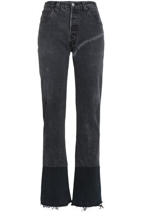 Frayed high-rise straight-leg jeans | RE/DONE by LEVI'S | Sale up to 70% off | THE OUTNET