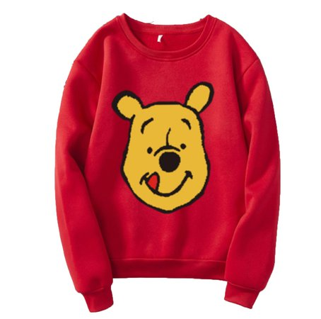 Men & Women Winnie the Pooh Sweatshirt Loose Print Long Sleeve Sweater